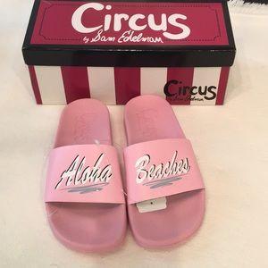 Sam Edelman Circus Aloha Beaches Slides NWT Pink 8